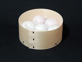 曲げわっぱ:木製品(丸型)