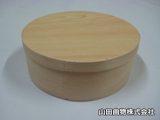 高級感香る檜(ヒノキ)を使った丸型・曲げわっぱ