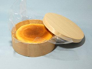チーズケーキ 洋菓子 容器 木 ステッチャーなし ホットメルト 業務用 使い捨て 曲げわっぱ 曲物 脱プラスチック